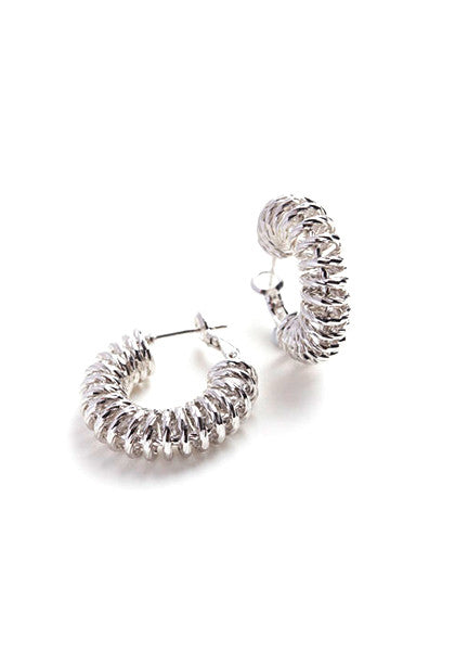 Spiral Hoop Earrings // 18CT White Gold Filled