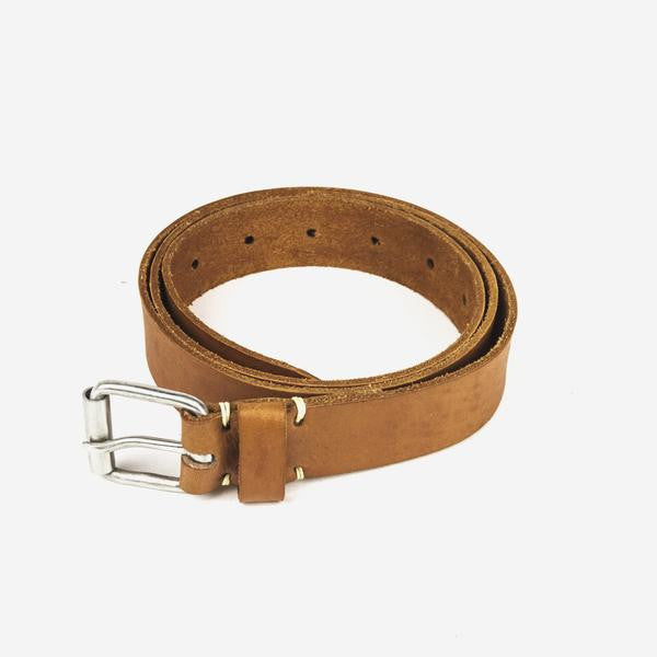 Men's Leather Belt // Tan