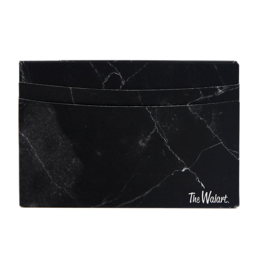 Card Wallet // Black Marble