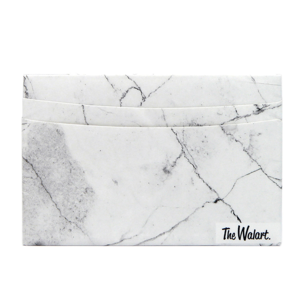 Card Wallet // White Marble