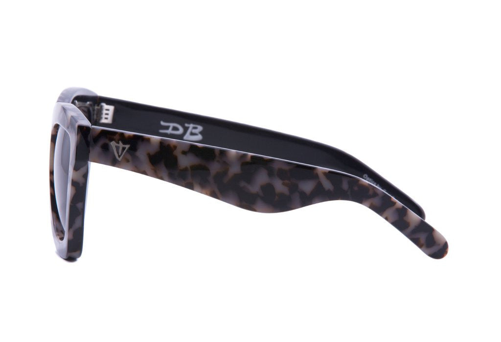 DB // Black and White Tort / Black Gradient Lens