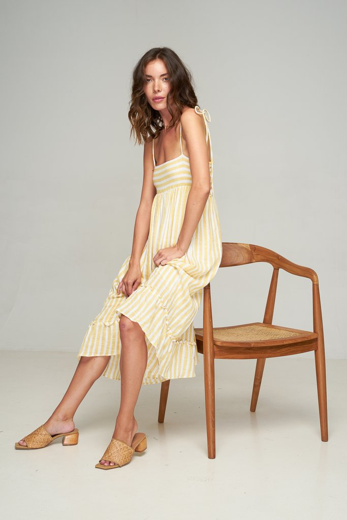 Sabino Dress // Primrose Yellow Stripe