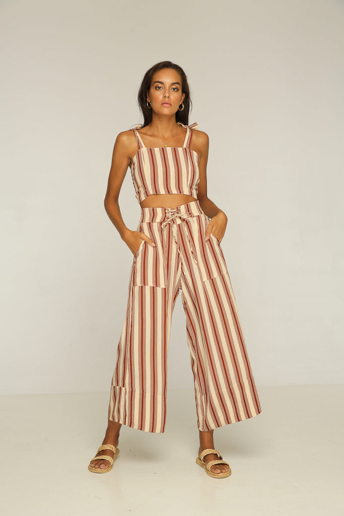 Connie Top // Brown Stripe