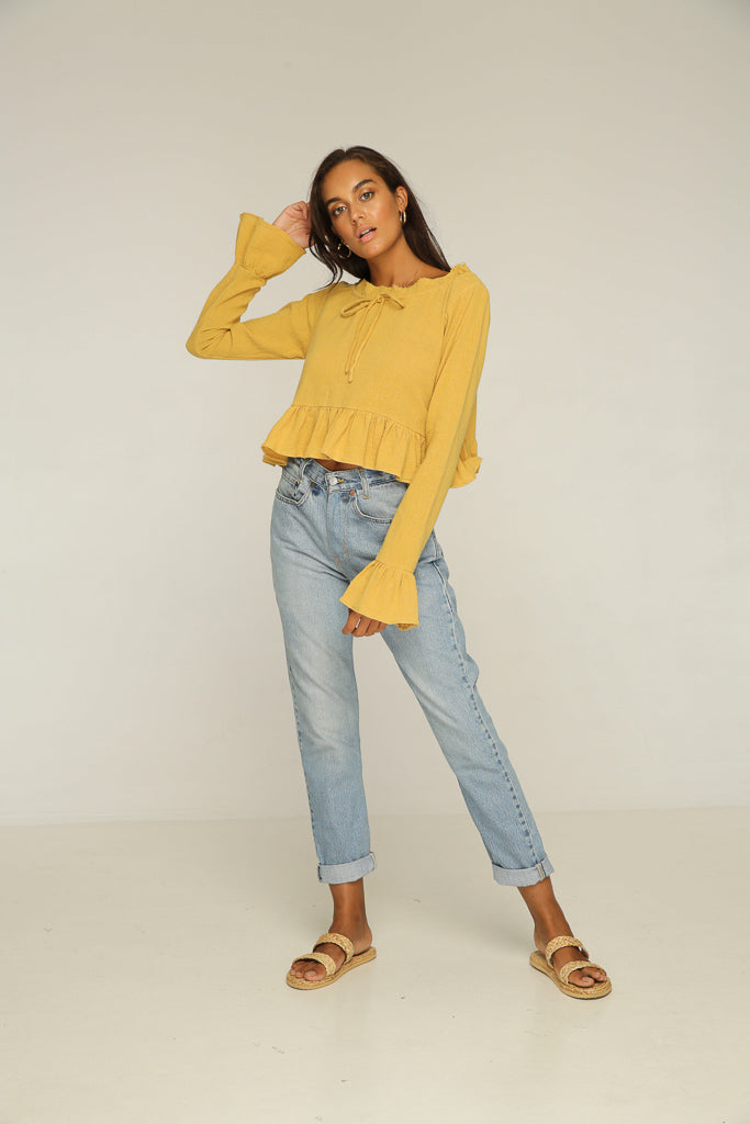 Sundown Blouse // Yellow