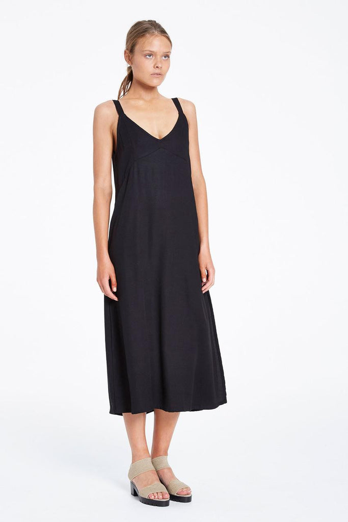 Sunshade Maxi Slip Dress // Black