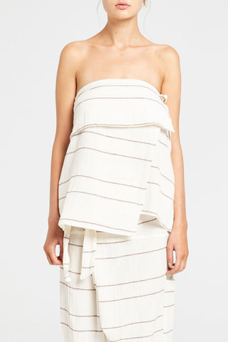 Cast Strapless Top // Stripe