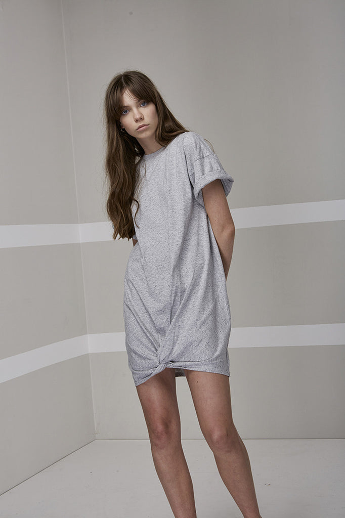 Off Duty T-Shirt Dress // Grey Marle