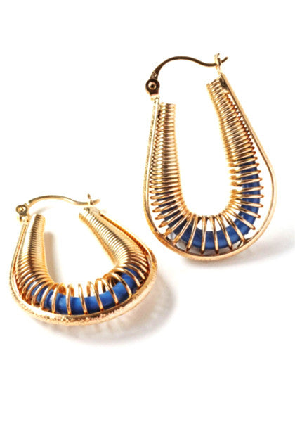 Egyptian Hoop Earrings // 18CT Gold Filled