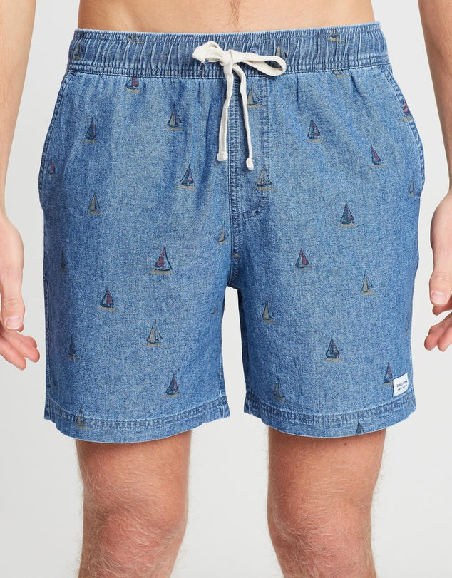 Sailaway Walkshort // Stone Blue