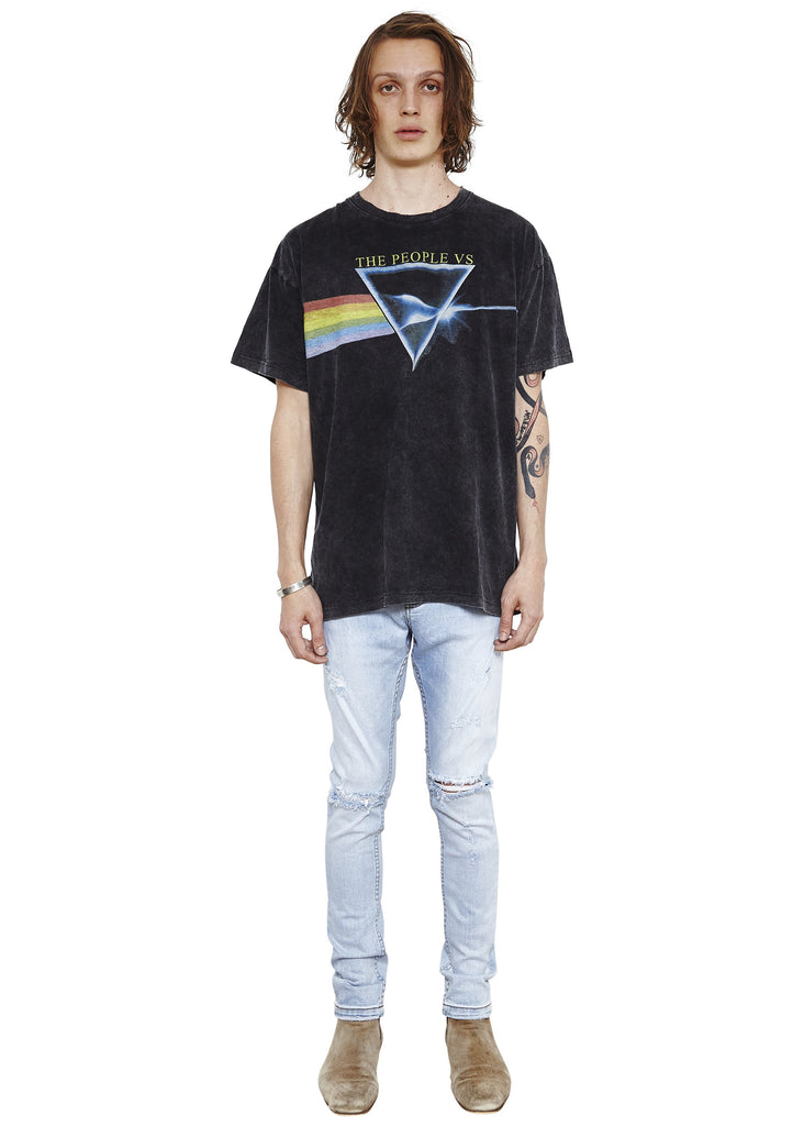 Rainbow Vintage Tee // Smashed Black