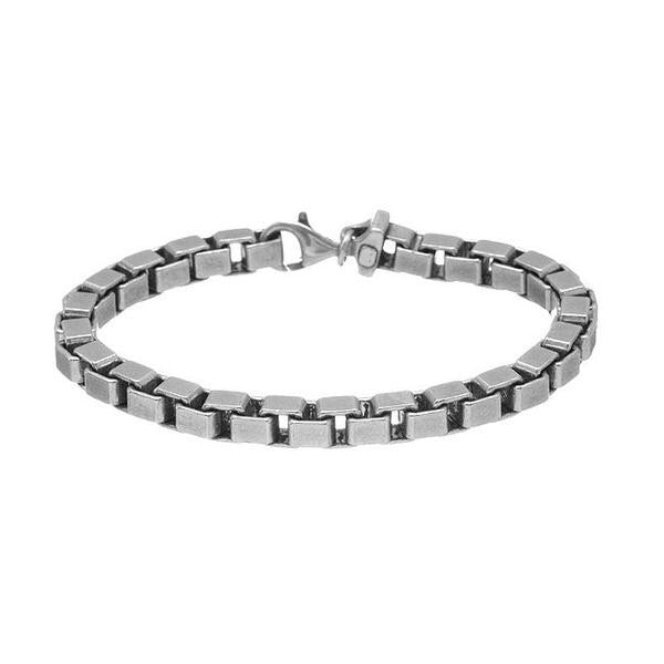 Box Chain Bracelet // Polished Sterling Silver