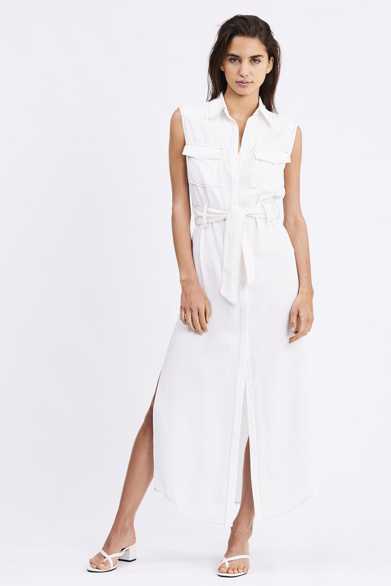 Western Maxi Dress //Off White