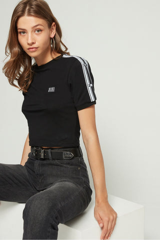 Courtney Logo Tape Cropped Tee // Black