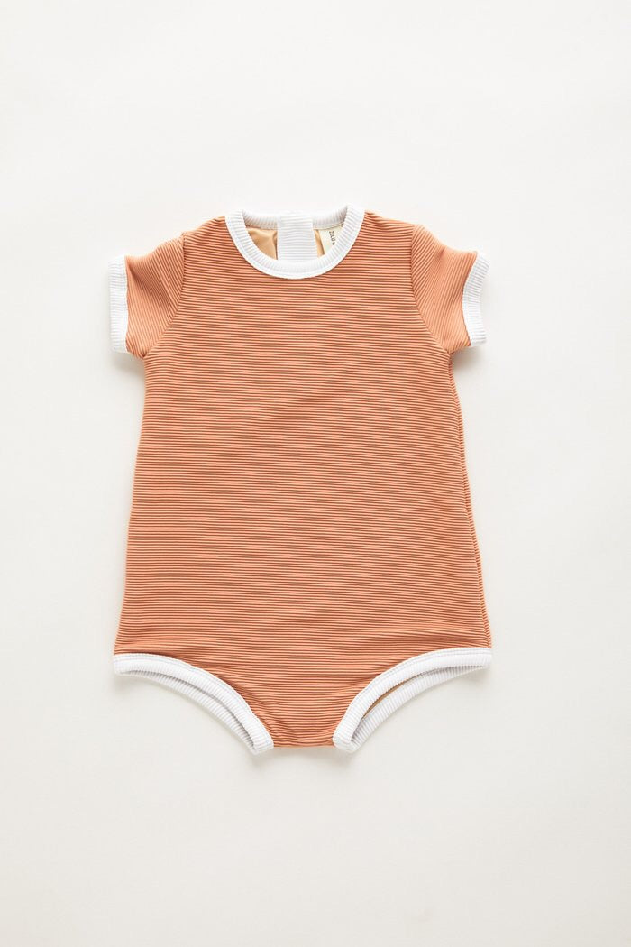 Mini Rib Onesie // Terracotta