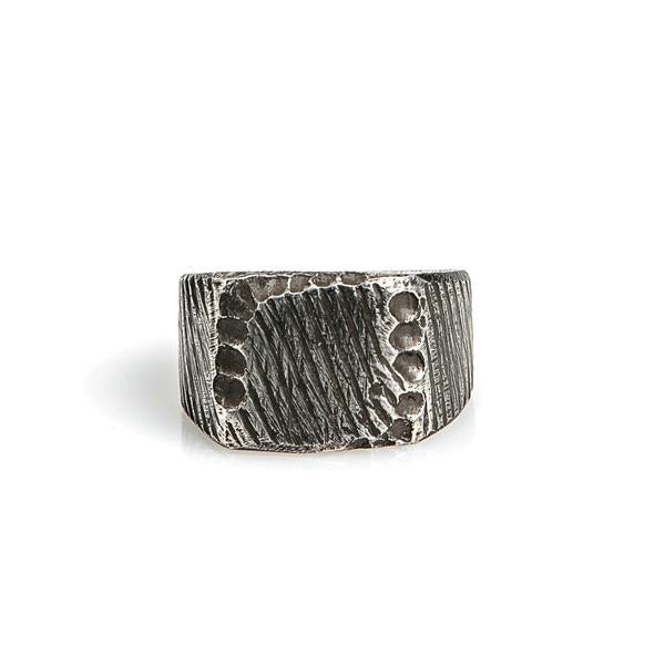 Square Signet Ring // Oxidized Sterling Silver