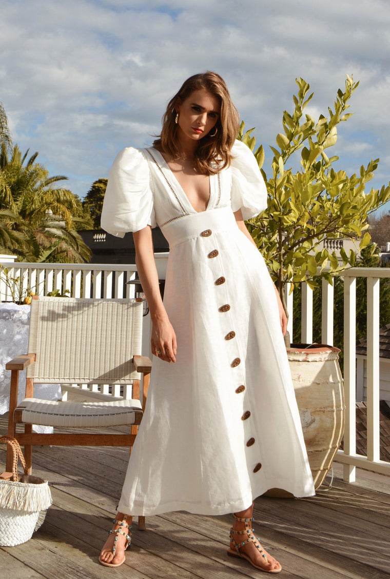 Etherial Maxi Dress // Winter White