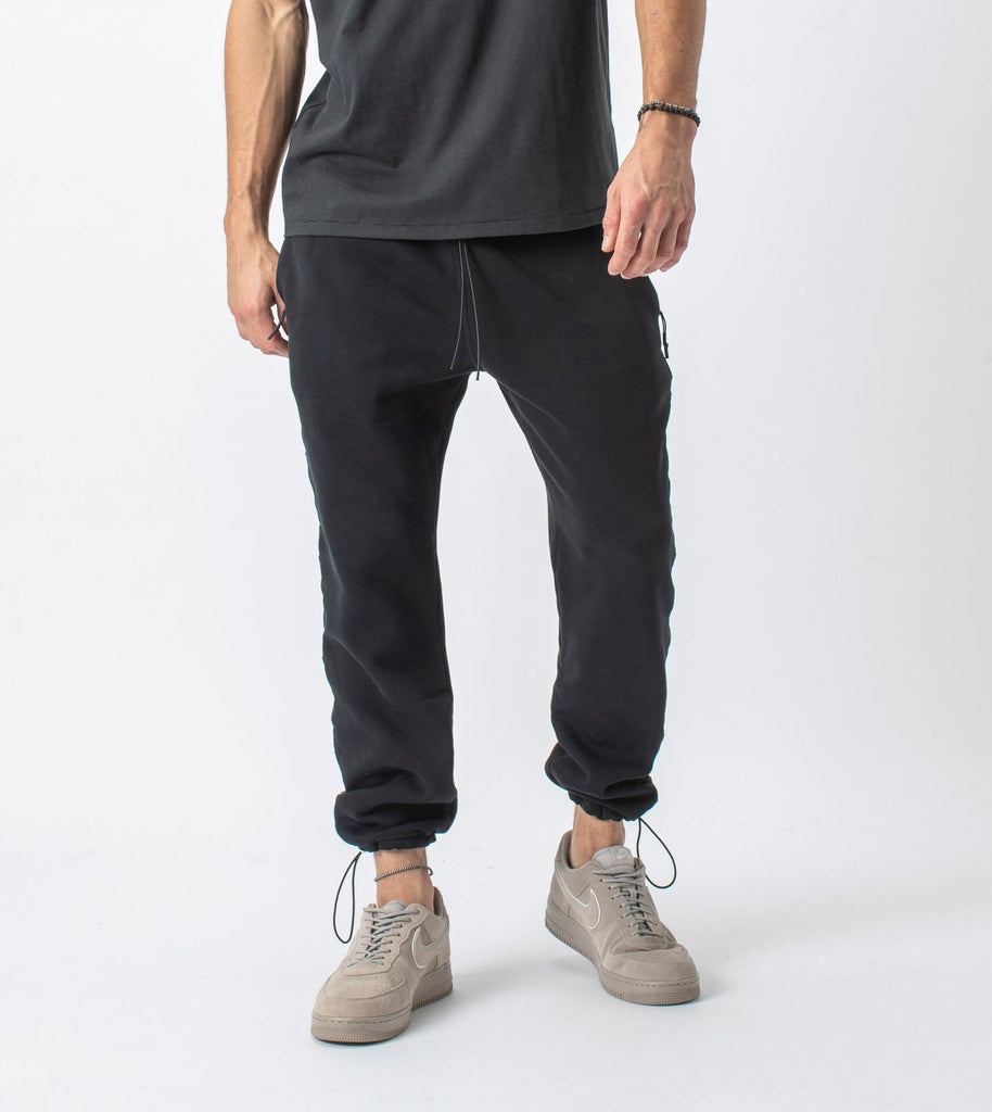 Jumpa Tape Sweat Jogger // Smokey Black