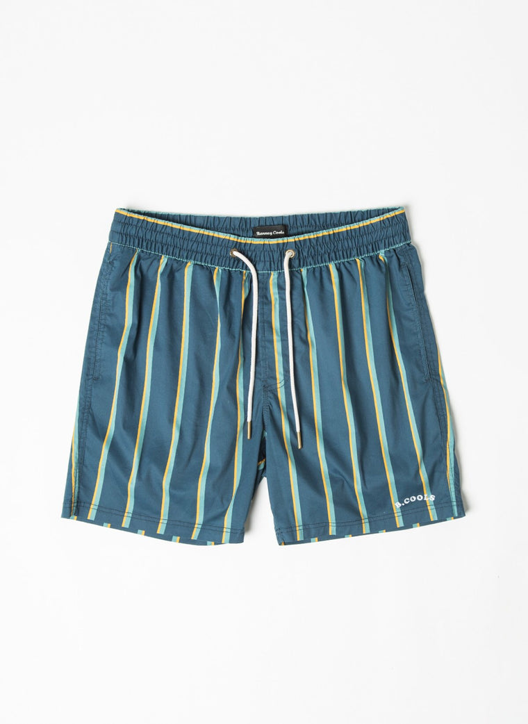 "Amphibious 17"" Short // Navy Stripe"