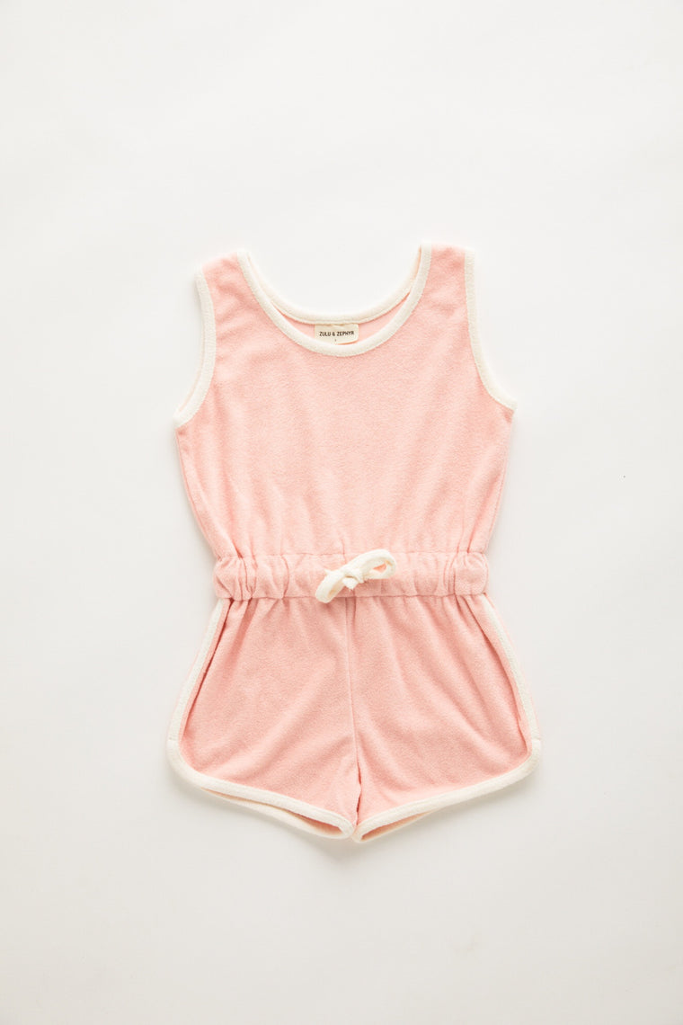 Mini Towel Playsuit // Blush