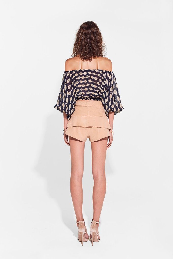 Tilda Layered Mini Short // Camel