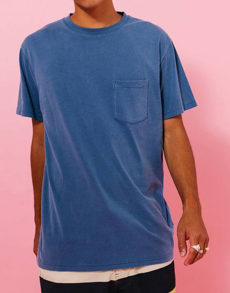 Staple Pocket Tee // Faded Cobalt