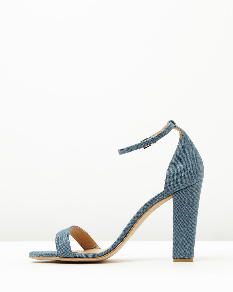 Block Heel Sandal // Light Denim