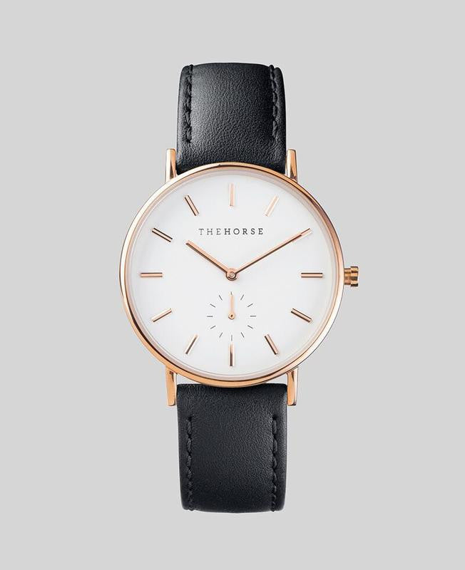 The Classic // Black - White - Rose Gold