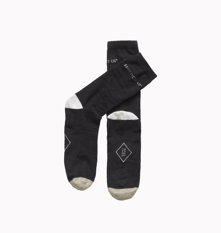 Washed Up Sock // Black