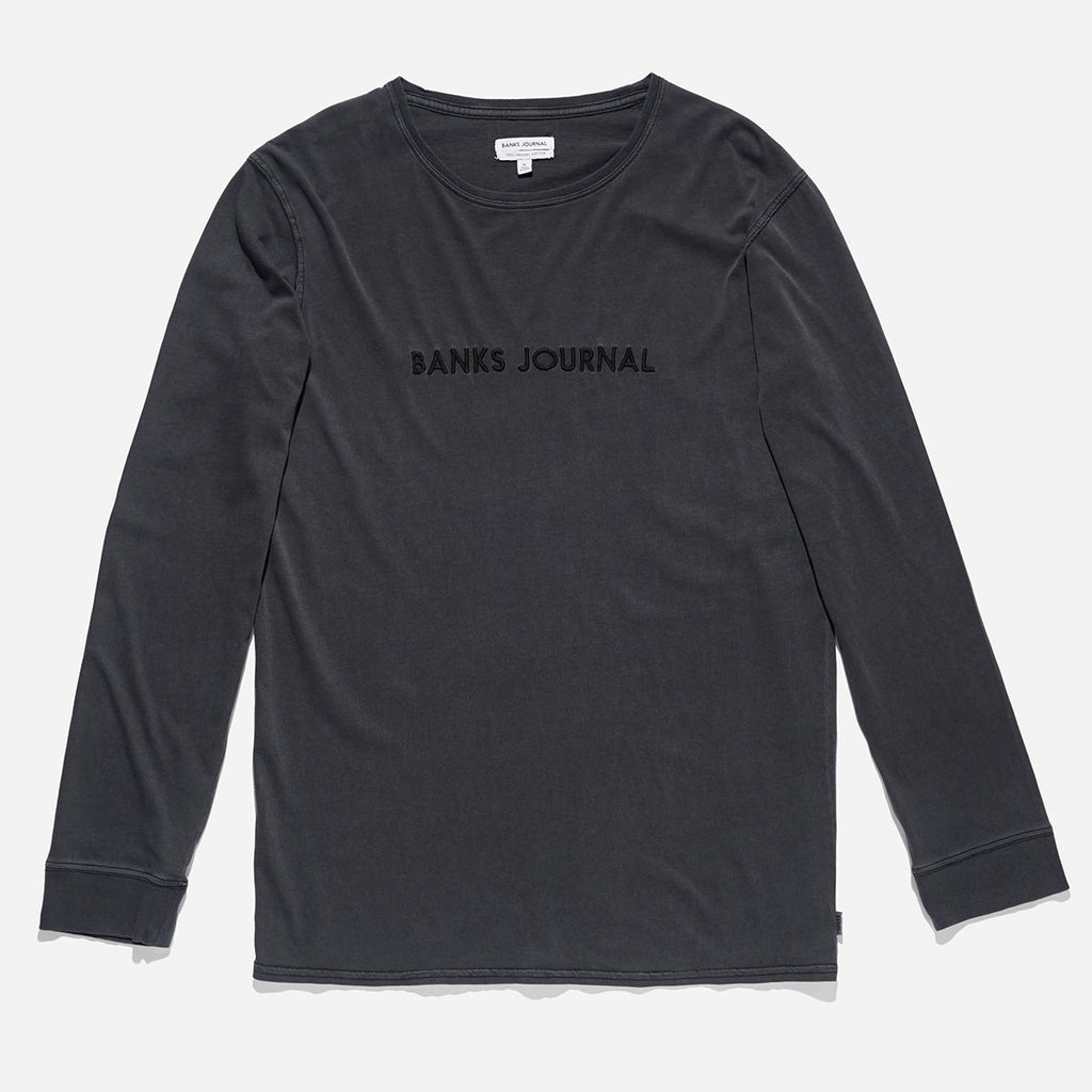 Label - L/S Tee // Dirty Black