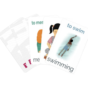 Mini Verb Flashcards - Card Pack - Teacher-Toolkit.co.uk
