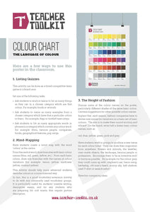 Colour Chart Poster - Teacher-Toolkit.co.uk