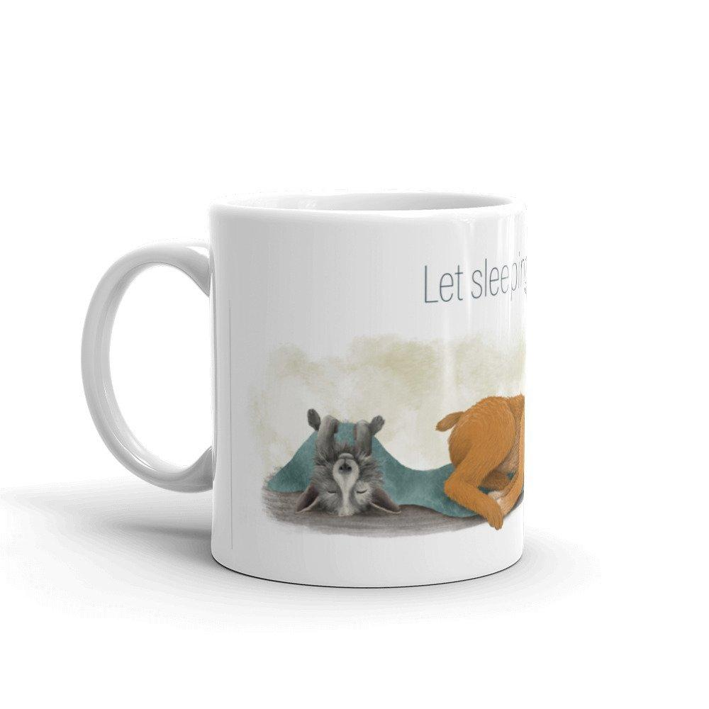 Sleeping Dogs - Animal Idiom Mug - Teacher-Toolkit.co.uk