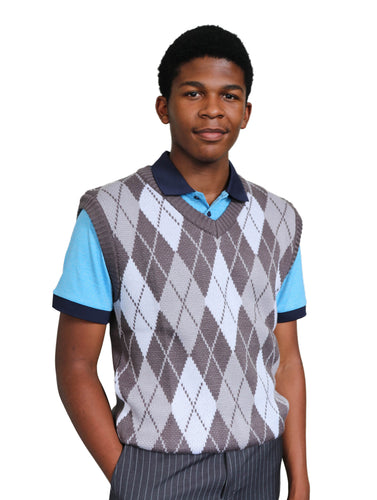 Men's Sleeveless Jersey Grey