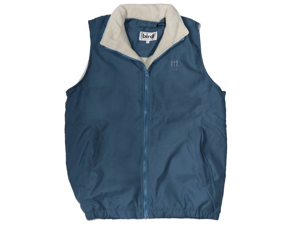 Ladies Fleece Wind Shirt in Blue