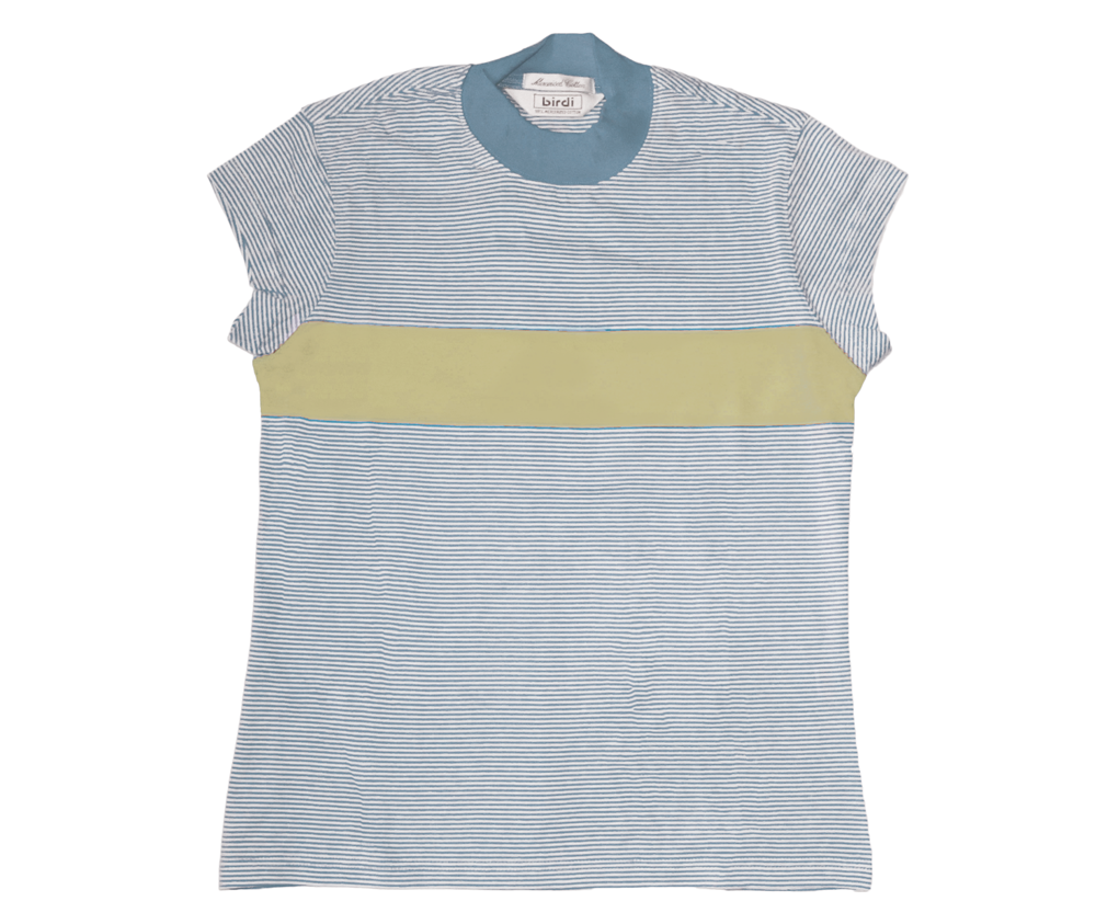 Ladies Turtle Top in Sky