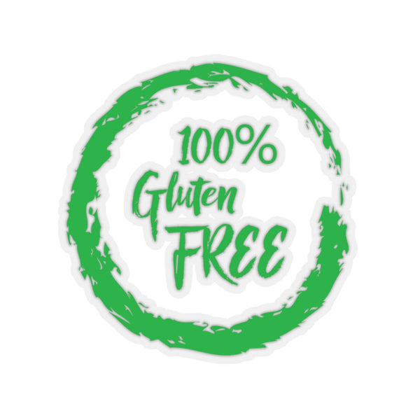 100% Gluten Free - Kiss-Cut Stickers