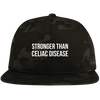 Stronger Than Celiac Disease Flat Bill Snapback Hat