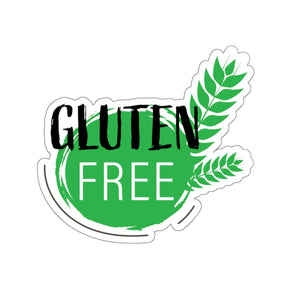 Gluten Free - Wheat Design - Kiss-Cut Stickers