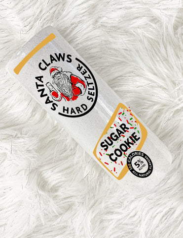white claw tumbler sugar cookie christmas