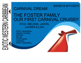 Memories Carnival Cruise Magnets