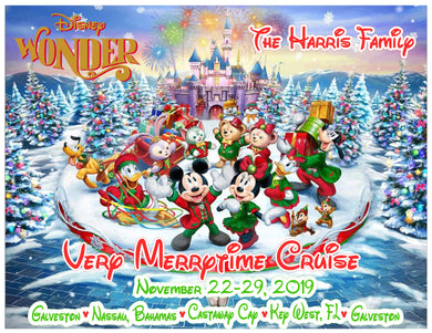 Disney Merrytime Cruise Magnet with Characters for Christmas