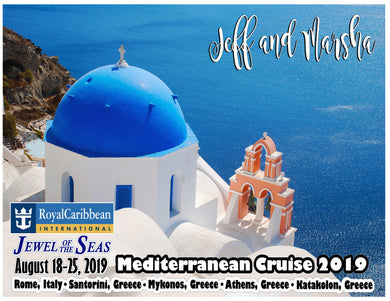 Mediterranean Cruise Magnet, customizable for all cruiselines