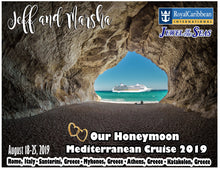 Load image into Gallery viewer, Mediterranean Cruise Magnet, customizable for all cruiselines