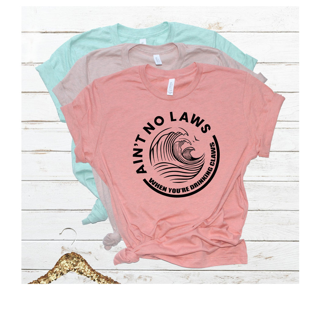 ain't no laws when you are drinking claws white claw tshirt