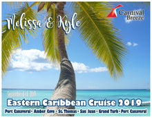 Load image into Gallery viewer, Caribbean Cruise Magnets, customizable for all cruiselines