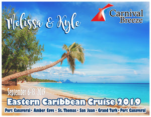 Caribbean Cruise Magnets, customizable for all cruiselines