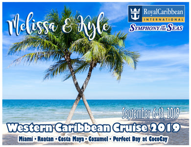 caribbean beach palm tree cruise magnet