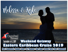 Load image into Gallery viewer, romantic couple cruise magnet honeymoon anniversary