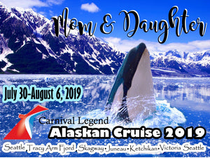ALASKA Cruise Magnet, customizable for all cruiselines
