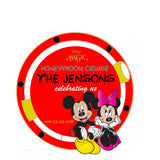 mickey and minnie couples porthole disney cruise magnet round